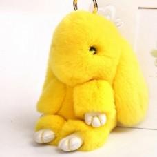 Брелок Меховой Кролик 19 см (натуральный мех) желтый