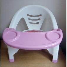 Детский стульчик для кормления (розовый)