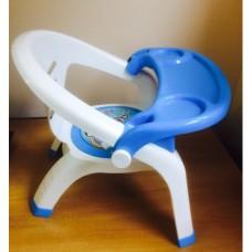 Детский стульчик для кормления (голубой)