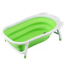 Детская складная ванна Folding Baby Bathtub (зеленая)