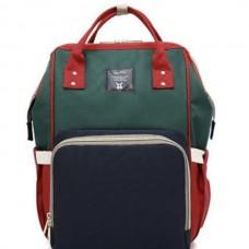 Сумка-рюкзак для мамы Mummy Bag (Красный-зелёный-синий)