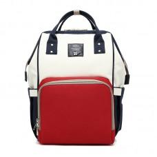 Сумка-рюкзак для мамы Mummy Bag (Синий-белый-красный)