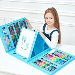 Набор для рисования со складным мольбертом (голубой)