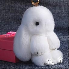Брелок Меховой Кролик 19 см (натуральный мех) белый