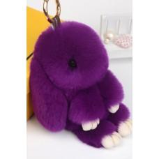 Брелок Меховой Кролик 19 см (натуральный мех) фиолетовый