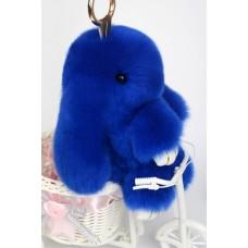 Брелок Меховой Кролик 19 см (натуральный мех) синий