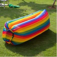 Надувной лежак Ламзак (Радужный)