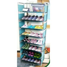 Стойка для обуви 6 полок MEIYIHAN SHOE RACK (голубой)