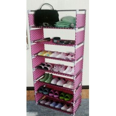 Стойка для обуви 6 полок MEIYIHAN SHOE RACK (розовый)