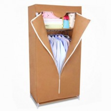 Складной каркасный тканевый шкаф QUALITY WARDROBE (БЕЖЕВЫЙ)