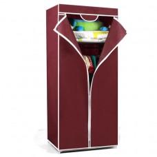 Складной каркасный тканевый шкаф QUALITY WARDROBE (БОРДОВЫЙ)