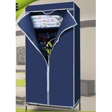 Складной каркасный тканевый шкаф QUALITY WARDROBE (СИНИЙ)
