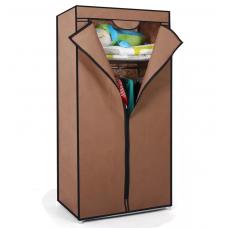 Складной каркасный тканевый шкаф QUALITY WARDROBE (КОРИЧНЕВЫЙ)