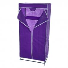 Складной каркасный тканевый шкаф QUALITY WARDROBE (ФИОЛЕТОВЫЙ)