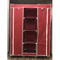 Складной каркасный тканевый шкаф STORAGE WARDROBE (красный)