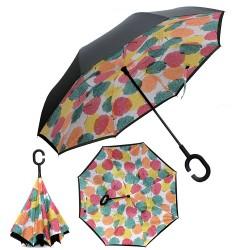 Зонт наоборот UpBrella ЦВЕТНЫЕ ЛИСТЬЯ