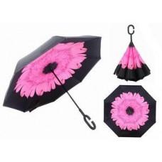 Зонт наоборот UpBrella РОЗОВЫЙ ЦВЕТОК