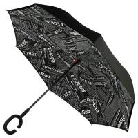 Зонт наоборот UpBrella ЧЕРНАЯ ГАЗЕТА