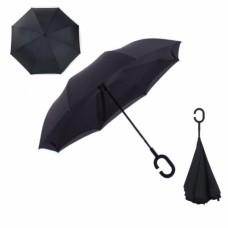 Зонт наоборот UpBrella ЧЕРНЫЙ ОДНОТОННЫЙ