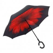 Зонт наоборот UpBrella КРАСНЫЙ ЦВЕТОК