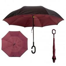 Зонт наоборот UpBrella БОРДОВЫЙ ОДНОТОННЫЙ