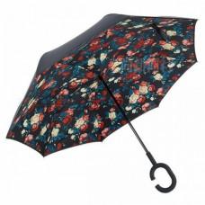 Зонт наоборот UpBrella КРУПНЫЕ РОЗЫ
