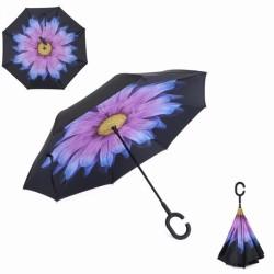 Зонт наоборот UpBrella ФИОЛЕТОВЫЙ ЦВЕТОК