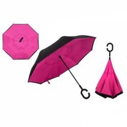 Зонт наоборот UpBrella РОЗОВЫЙ ОДНОТОННЫЙ