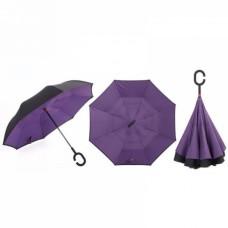 Зонт наоборот UpBrella ФИОЛЕТОВЫЙ ОДНОТОННЫЙ