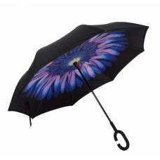 Зонт наоборот UpBrella СИНИЙ ЦВЕТОК