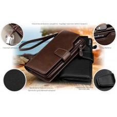 Мужское Портмоне Baellerry Business (коричневый)