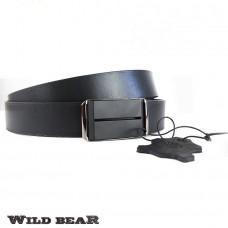 Ремень WILD BEAR RM-026m Black (в кожаном чехле)