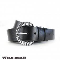 Ремень WILD BEAR RM-027m Black (в кожаном чехле)