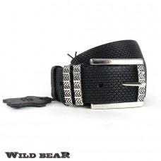 Ремень WILD BEAR RM-028f Brown Premium (в деревянном футляре)