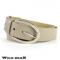 Ремень WILD BEAR RM-029f Beige Premium (в деревянном футляре)