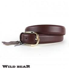 Ремень WILD BEAR RM-030m Vinous (в кожаном чехле)