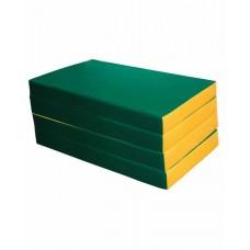 Мат №7 (200 х 100 х 10) складной (зеленый/желтый)