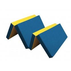 Мат №7 (200 х 100 х 10) складной (синий/желтый)