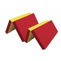 Мат №7 (200 х 100 х 10) складной (красный/желтый)