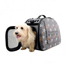 Складная сумка-переноска для животных до 6 кг (серая)