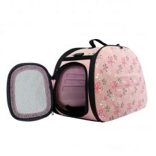 Складная сумка-переноска для животных до 6 кг (розовая)
