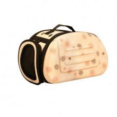 Складная сумка-переноска для животных до 6 кг (бежевая)
