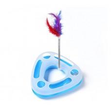 Треугольный трек-игрушка для кошек Happy Circle (голубой)