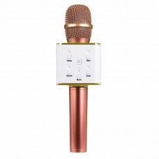 Беспроводной караоке микрофон Tuxun Q7 (золотая роза)