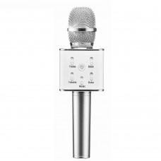 Беспроводной караоке микрофон Tuxun Q7 (серебро)