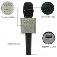 Беспроводной микрофон Bluetooth для смартфонов на Android и iOs Micgeek Q9 (ЧЕРНЫЙ)