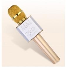 Беспроводной микрофон Bluetooth для смартфонов на Android и iOs Micgeek Q9 (золото)