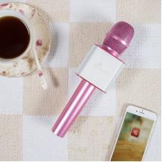 Беспроводной микрофон Bluetooth для смартфонов на Android и iOs Micgeek Q9 (РОЗОВЫЙ)