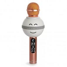 Беспроводной караоке микрофон WS-878(розовое золото)