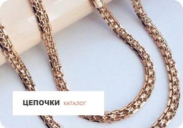 Цепочки из дубайского золота. Каталог